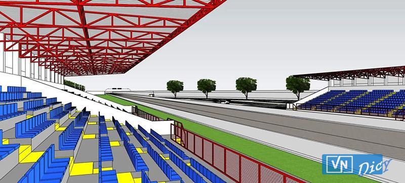 Phối cảnh trường đua Giang Điền Speedway