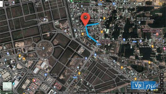 Vị trí lô đất đường 39, Tái định cư Phú Chánh B