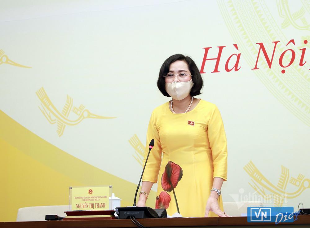 Trưởng ban Công tác đại biểu Nguyễn Thị Thanh. Ảnh: Phạm Hải