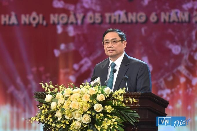 Thủ tướng Phạm Minh Chính phát biểu tại Lễ ra mắt Quỹ vaccine phòng, chống COVID-19