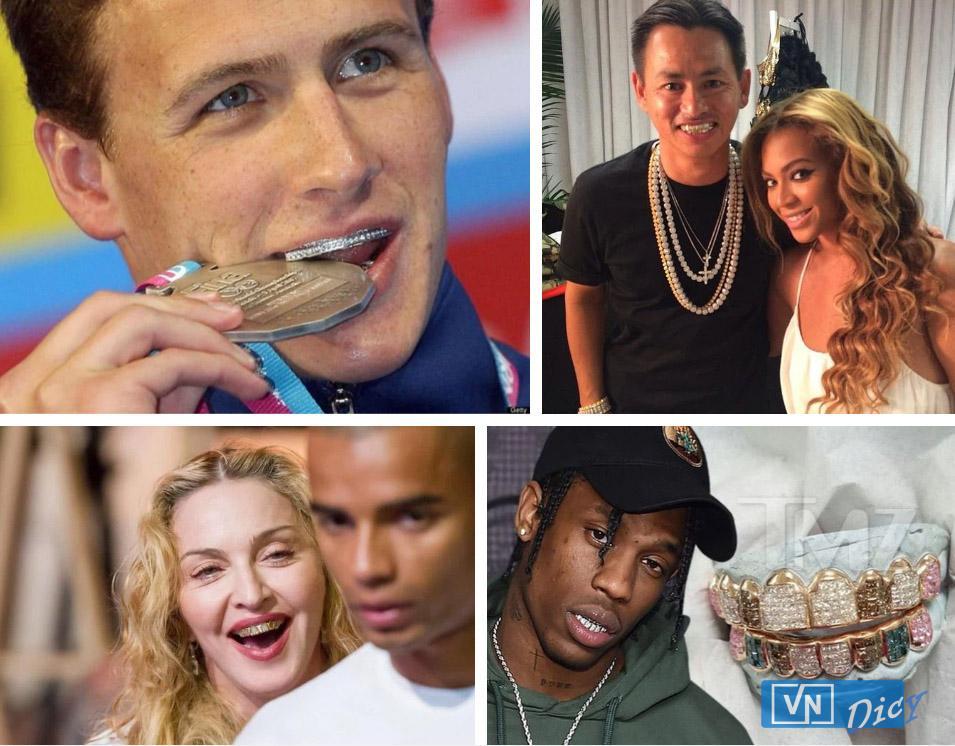 Madonna, Katy Perry, Miley Cyrus, Travis Scott và loạt sao Hollywood ưa chuộng phong cách bọc răng bằng vàng, kim cương