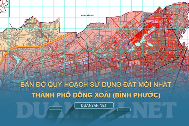 Hướng dẫn tải về bản đồ quy hoạch TP Đồng Xoài (Bình Phước) miễn phí