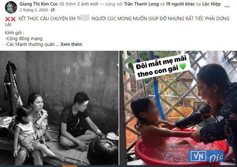Hình ảnh về Th. và con gái, bé K. cùng Giang Kim Cúc được đăng tải trên trang cá nhân.hị Kim Cúcim Cúc