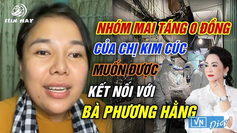 Kim Cúc từng chia sẻ mong muốn kết nối được cô Phương Hằng để ủng hộ mua xe cứu thương
