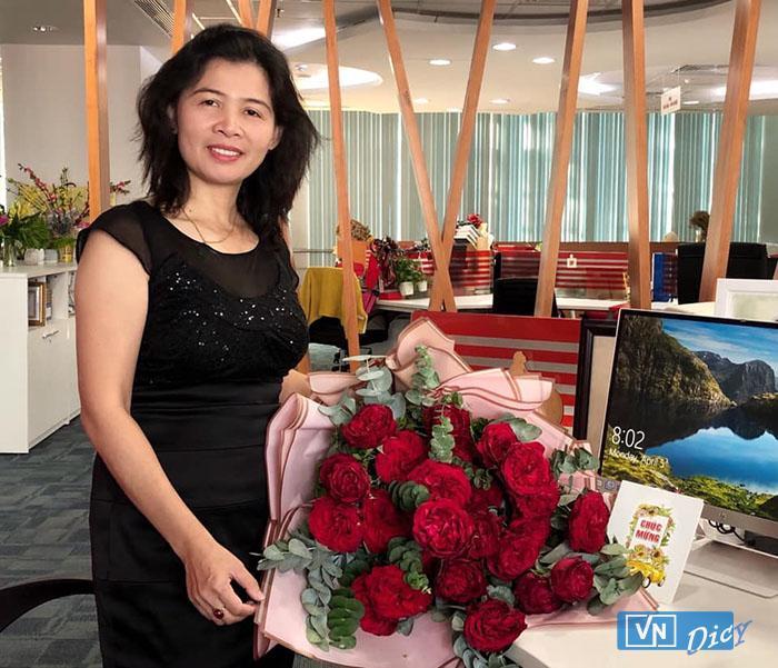 Nhà báo Hàn Ni đang công tác tại Báo Sài Gòn Giải Phóng