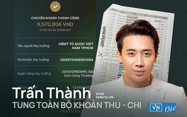 Nam MC chuyển nốt số tiền còn lại cho Ủy ban MTTQ Việt Nam