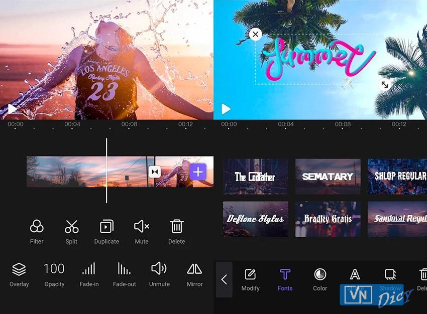 Giao diện ứng dụng VivaCut Pro