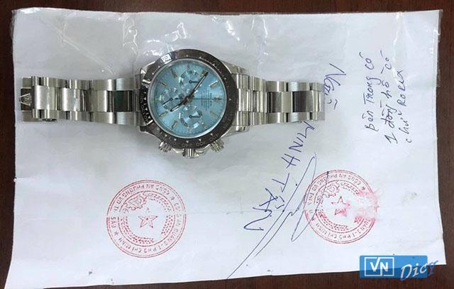 Chiếc đồng hồ Rolex trong vụ án